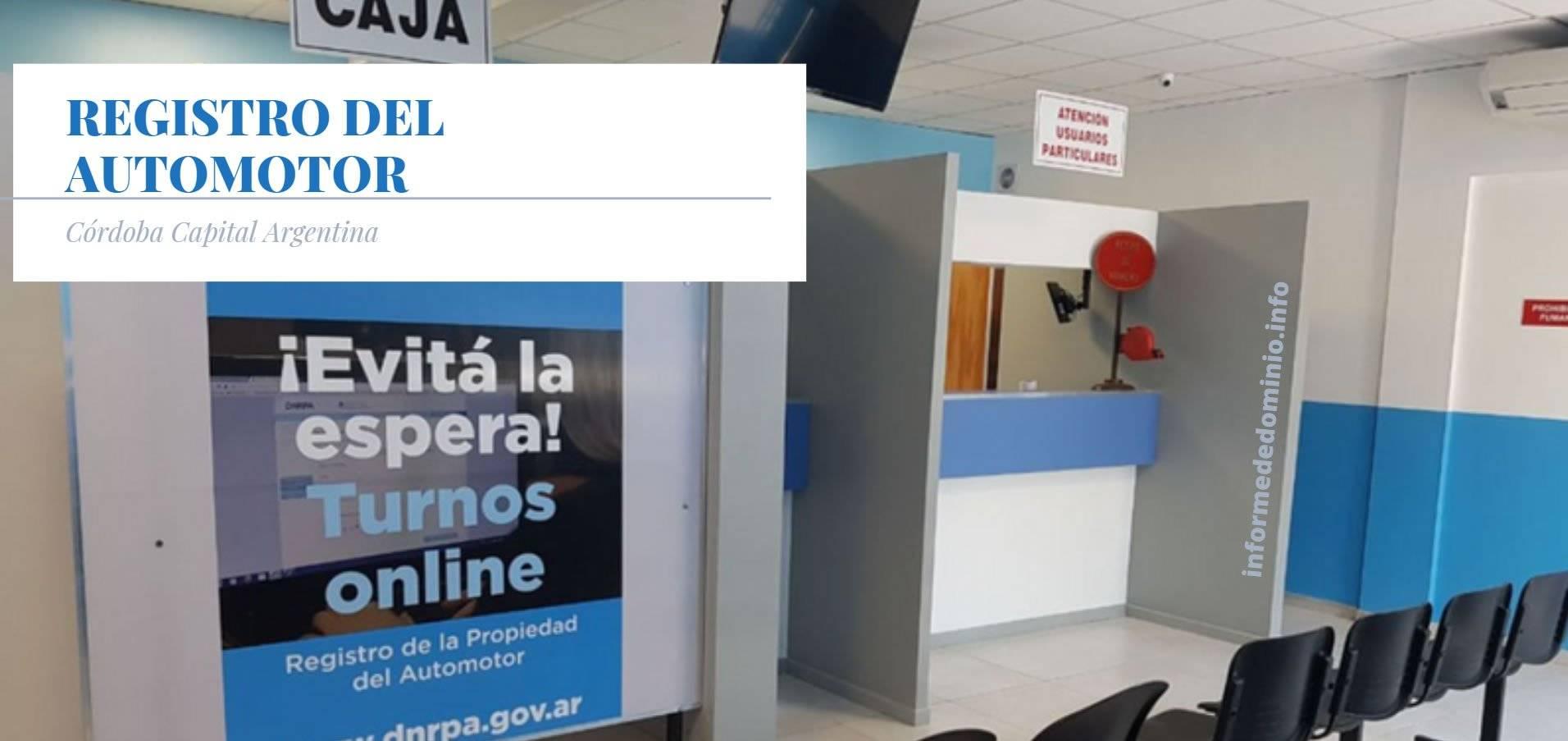 Registros del Automotor de Cordoba Capital.