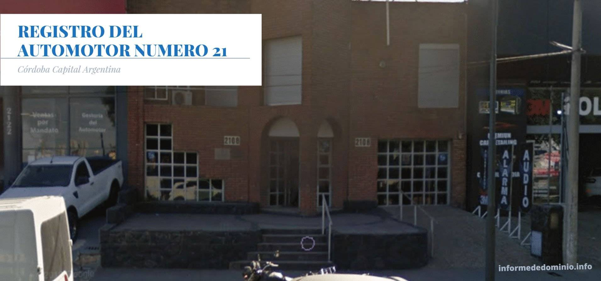 Registro Automotor Número 21 de Cordoba Capital