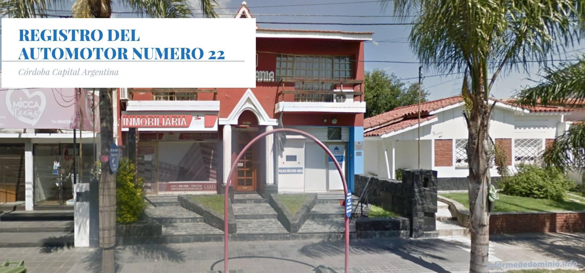 Registro Automotor Número 22 de Cordoba Capital