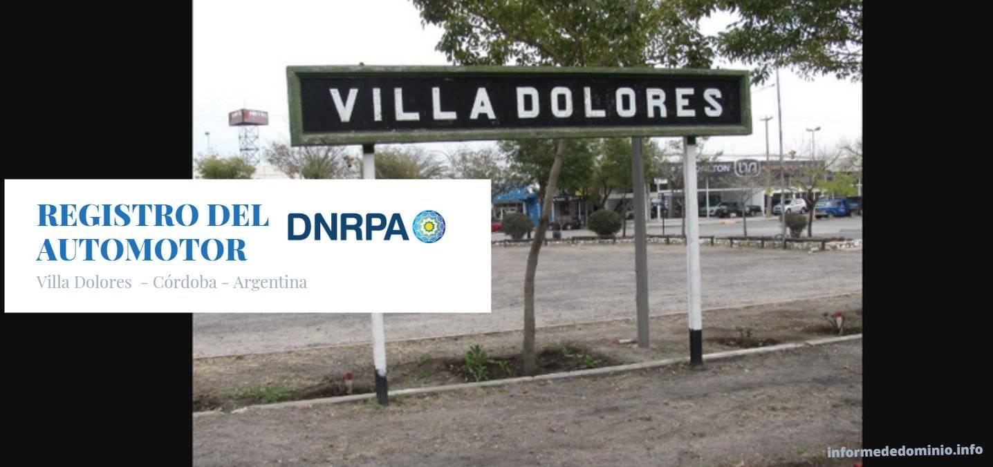 Registros del Automotor Villa Dolores
