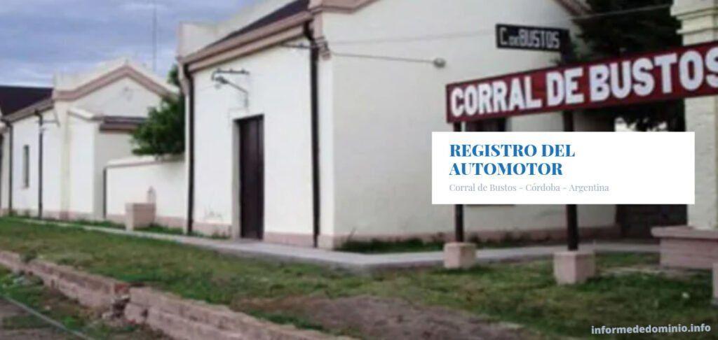 Registros del Automotor Corral de Bustos
