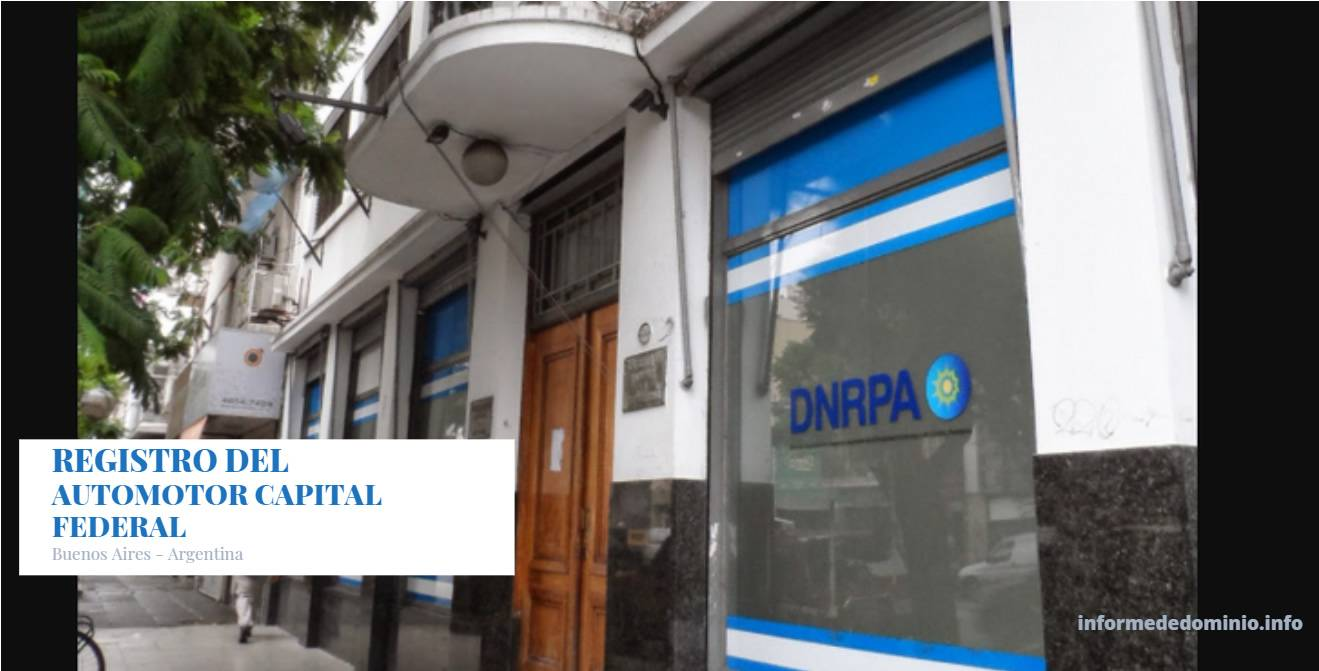 Registros Automotor Capital Federal (CABA)