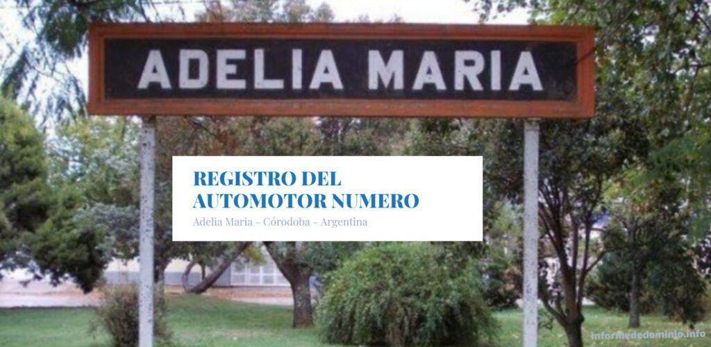 Adelia Maria Córdoba Registro del Automotor