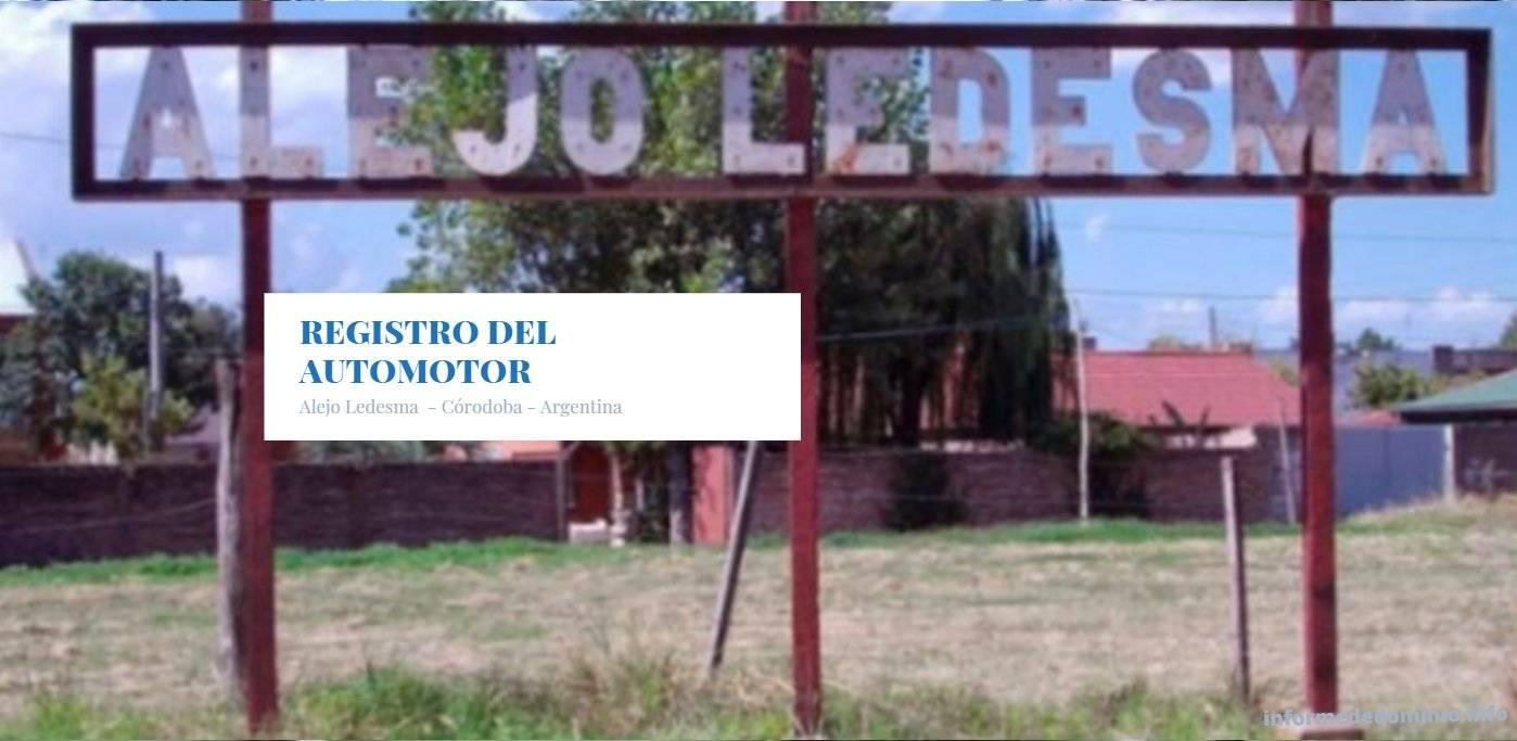 Registros del Automotor de  Alejo Ledesma