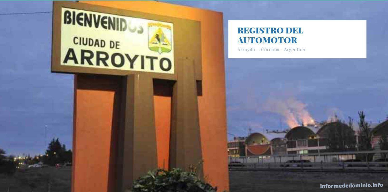 Registro de Motos y Autos Arroyito Cordoba