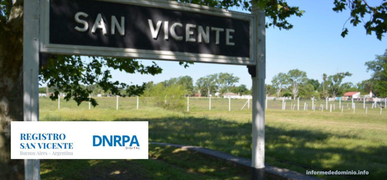 Registro de Automotor de San Vicente Buenos Aires
